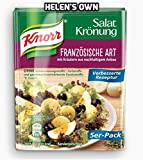 Knorr French Salad Dressing 10 pcs/ sachets - by Helen's Own - with English Instructions - Knorr Französische Art