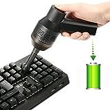 Drahtlos Tastatursauger, MECO Mini Tragbar aufladbar Lithiumbatterie Vacuum Cleaner mit Batterie, Reinigen die Lücke für Keyboard, Laptop, Auto, Sofa und Andere Möbel