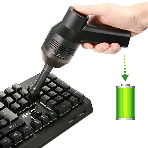 Zigarettenanzünder-pc (Drahtlos Tastatursauger, MECO Mini Tragbar aufladbar Lithiumbatterie Vacuum Cleaner mit Batterie, Reinigen die Lücke für Keyboard, Laptop, Auto, Sofa und Andere Möbel)