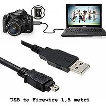 1.5 Medidor de USB 2.0 A macho a 4 pines Firewire IEEE 1394 Cable adaptador Plomo