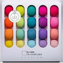 La Case de Cousin Paul LED Lichterkette Jimi, 20 farbige Lampions