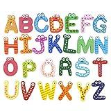 iStary Holz Magnet Buchstaben Kinderspielzeug Cartoon Magnet Buchstaben Alphabet Magnetischen Magnetisch Kinder Buchstaben Aus Holz Mit Anlautbildern Zum Schreiben Lernen, ABC Alphabet