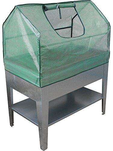 Geiger Metallbau GmbH Aktion! BioDesign Hochbeet Palatino 100x60x80 cm inkl. Frühbeetaufsatz