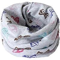 otoño invierno niños niñas collar del bebé bufanda de algodón cuello redondo bufandas o ring pañuelos o cuello patrón de bufanda del redondo impresión colorful by Sannysis (01)