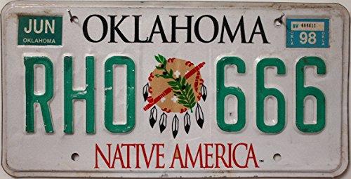 US Nummernschild OKLAHOMA Kennzeichen # License Plate # Autoschild USA