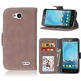 LG L90 Case,BONROY® LG L90 Retro Matte Leather PU Phone