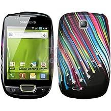 Samsung Galaxy Mini S5570 Caso Elegante - Negro Estrellas Fugaces Gel Case Para Samsung Galaxy Mini S5570 - thinkmobile