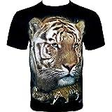 Rock Chang T-Shirt * Tiger * Schwarz R712