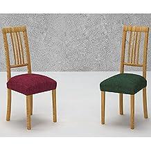 Pack de 2 Fundas de Asiento para Silla Modelo JAKSON, Color MARRÓN C/3, Medida 40-50cm asiento