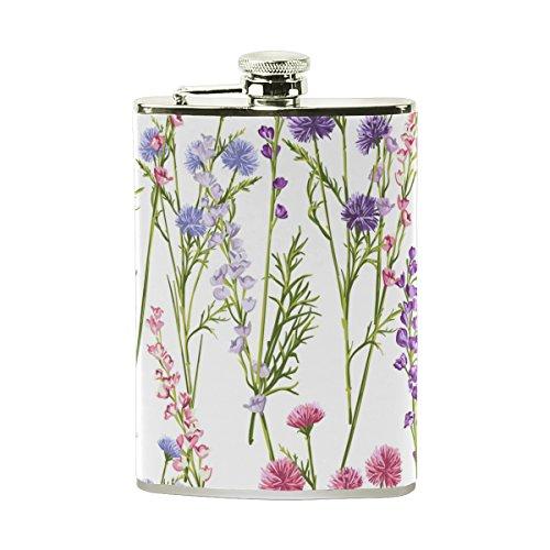 Frauen Daisy (jeansame Personalisierte Flachmann Mini-Fläschchen Edelstahl 8oz für Frauen Herren Cute Floral Lavendel Daisy Blumen)