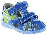 Richter Kinder Lauflerner-Sandalen Blau Velourleder Jungen Schuhe 2114-141-6911 Terrino, Farbe:Blau, Größe:24