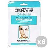 DERMOLAB Set 6 DERMOLAB Viso maschera tessuto idratante/purificante * 1 pz.