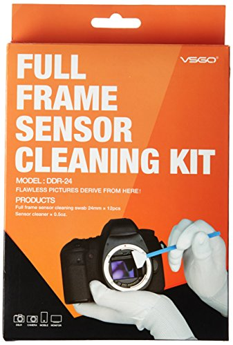Ues DSLR Digital Camera Full Frame (CCD/CMOS Swab ddr-24) Sensor Kit (Box of 12 x 24 mm Sensor Swab + 15 ml Cleaner)