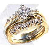 ELEGANT 0.8CT TWO TONE 3 IN 1 ENGAGEMENT RING. A VERY VERSATILE PIECE OF JEWELLERY