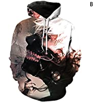 Xinhua488 - Sudadera con Capucha para Hombre, diseño de Anime Tokyo Ghoul 3D, B