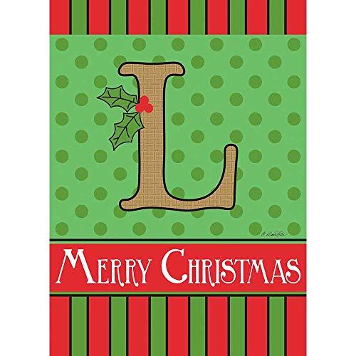 nogramm Festliche rot grün 18 x 13 Polyester Jute Weihnachten Outdoor Flagge ()