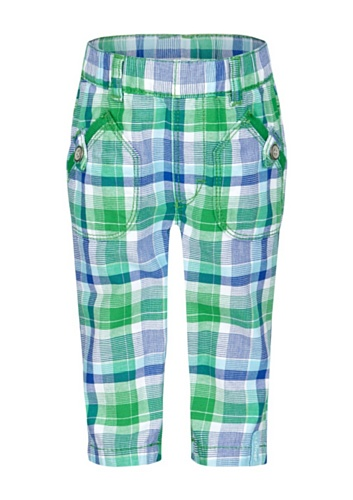 S.Oliver Baby - Jungen Hose 65.405.73.2895, Kariert, Gr. 68, Grün (Green Check) (Check Hose Green)