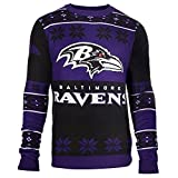 Baltimore Ravens Big Logo Crewneck NFL Ugly Sweater