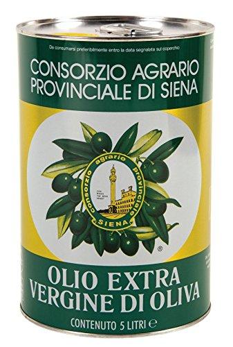 Olio exv. di oliva 100% italia lt. 5 consorzio agrario siena