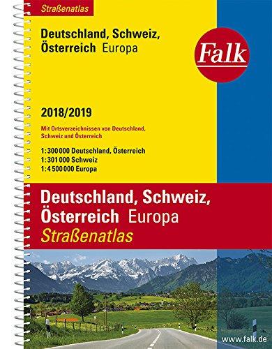 Falk Straßenatlas Deutschland, Schweiz, Österreich, Europa 2018/2019 1 : 300 000 (Falk Atlanten) Test