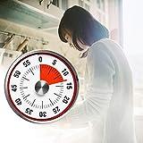 DKEyinx Küchen-Timer-Edelstahl-magnetischer Countdown-Alarm, Kochen Erinnerung Werkzeug, 8 cm x 3 cm Silber + Rot