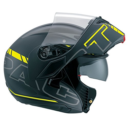 AGV Casco para moto Compact St E2205Multi PLK, Seattle mate color negro / plateado / amarillo flúor, talla L