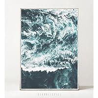 Kunstdruck / Poster WAVES -ungerahmt- Meer, Ozean, Wellen, Brandung, Küste, Landschaft
