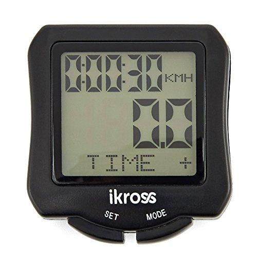Ordenador para Bicicleta,iKross Impermeable Cuantakilometro,Velocímetro Inamlambrico para Ciclismo,