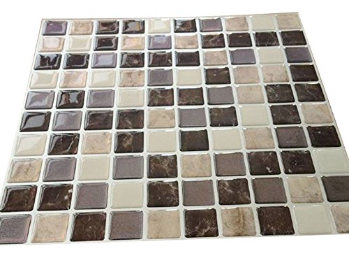 Tile Adhesivo 3d Gel Efecto Mosaico Autoadhesivo Mosaico