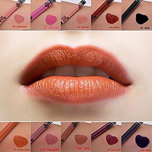 15Pcs Petansy Makeup Lipsticks Waterproof Long Lasting Matte Liquid Lipstick Pen Set Lip Gloss Set