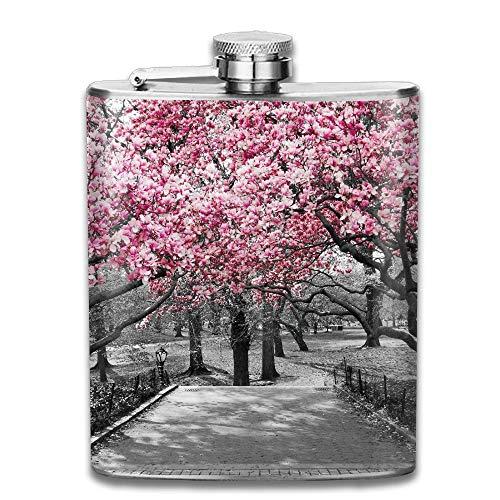 Sdltkhy Blossoms In Central Park Cherry Bloom Trees Forest Spring Springtime Landscape Gift for Men 304 Stainless Steel Flask 7oz