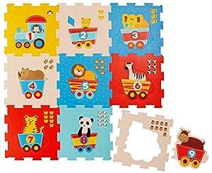 BIECO 19003763-Puzzle Matte Animales y números, 9Piezas