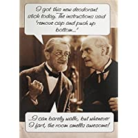 Greeting Card (PLK5509) Humour Birthday - Deodorant Stick - Two Men Discussing