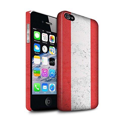 STUFF4 Matte Snap-On Hülle / Case für Apple iPhone X/10 / Australien/australisch Muster / Flagge Kollektion Österreich
