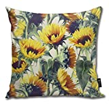EELKKO Sunflowers Forever Pillow Cover Throw Pillowcase Decorative Cushion Cover Gift for Birthday Wedding Couple Anniversary Graduation 18x18 inches