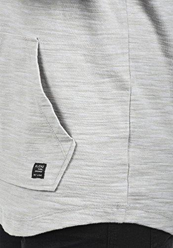 Blend Juno Herren Sweatjacke Kapuzenjacke Hoodie Mit Kapuze Und Reißverschluss, Größe:XXL, Farbe:Drizzle Grey (75110) - 4