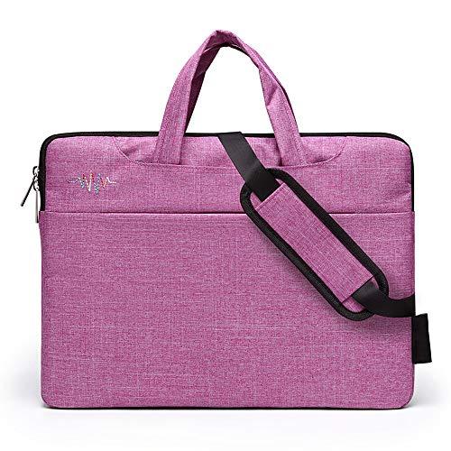 Laptop-Tasche, Multi-Funktions-Computer-Tasche, Mode lässig Umhängetasche, Damen Laptop Messenger Bag, 14-Zoll-Laptop aufnehmen können - Pink