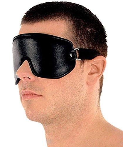 Schlafmaske Ledermaske ECHTES LEDEr Maske Augenmaske zum Schlafen Ledapol 5059 Schwarz Maska Mask onesize verstellbar (schwarz)