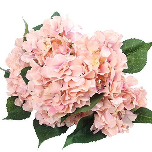 """Künstliche Seiden-Blumen von Efivs Arts, 45 cm, 7 Stiele mit großenBlütenköpfen \""""Hortensien\"""", Blumenstrauß für Hochzeiten, Hotelzimmer oder Zuhause, Dekoration für Partys rose"""