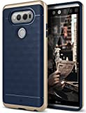 Caseology LG V20 Hülle, [Parallax Serie] Schlanke Dopellagige Schutzhülle mit Textur Sicherer Griff Geometrisches Design [Navy Blau - Navy Blue] für LG V20 (2016)