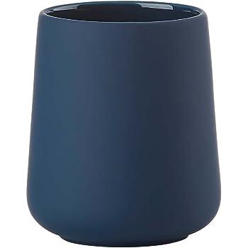 ZONE Denmark 362049 NOVA ONE Tazza spazzolino di porcellana con Soft Touch, 10 cm Royal Blue, blu scuro