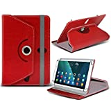 (rot) Lenovo Tab 2A10–70/a10- 30HD [25,4cm] [Standfunktion] Schutzhülle für Lenovo Tab 2A10–70/a10- 30HD [25,4cm] Tablet PC Hülle Cover Tablet [Standfunktion] stabiler Synthetisches PU-Leder 60Roatating Schutzhülle [Standfunktion] mit 4Federn von i- Tronixs