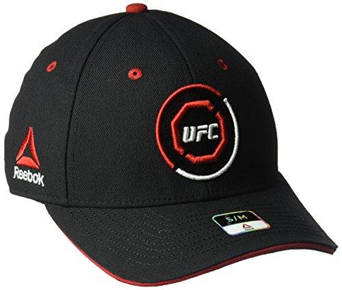Reebok gebogen Visier Flex Hat, unisex, Curved Visor Flex Hat, schwarz / rot
