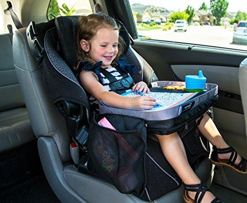 modfamily Kinder E-Z Reisen Knietablett, bietet organisiert, Zugang zu zeichnen, Snacks und Aktivitäten für Stunden unterwegs (schwarz/grau, 38x 30x 8cm)