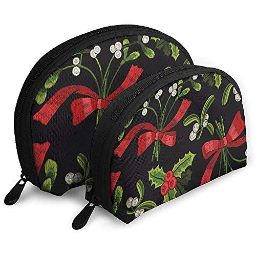 Árbol Navidad Yew Art Gift Mariscos Bolsa cosméticos