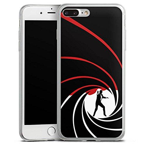 Apple iPhone 8 Plus Slim Case Silikon Hülle Schutzhülle James Bond 007 Silikon Slim Case transparent