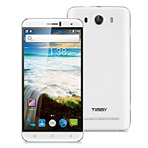 TIMMY M28 6.0 Inch IPS Unlocked 4G Smartphone Android 6.0 MTK6735 1.0GHz Quad Core Mobile Phone Dual SIM 1GB RAM+8GB ROM 8.0MP Back Camera Smart Gestures Cellphone(White)