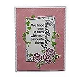 Lazzboy Fustelle Natale Scrapbooking Metallo Stencil Paper Card Craft per Sizzix Big Shot/Altre Macchine(G, Fiore e Cornice)