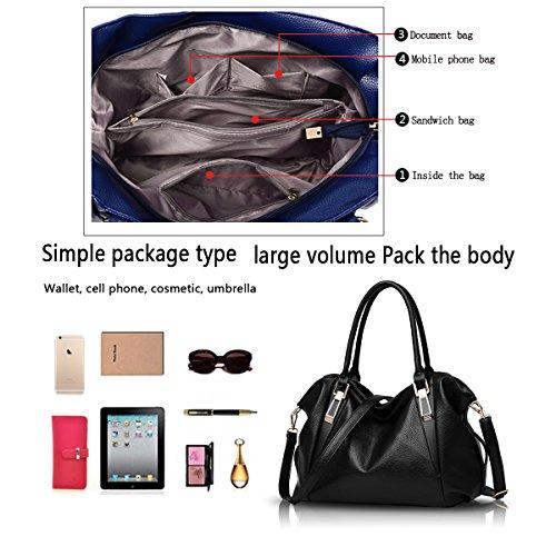 Sunas Ms. bag 2017 nuovo classico borsa morbida di modo casuale del messaggero sacchetto di spalla portatile borsa portafoglio nero