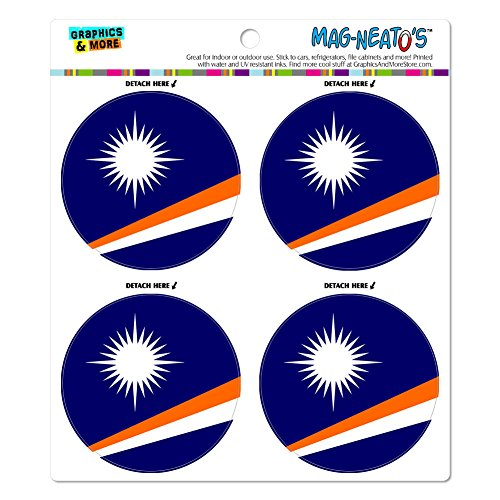 Land Marshall-inseln (Die Marshall Inseln National Land Flagge Mag-Neato 's-TM) Automotive Car Kühlschrank Locker Vinyl Magnet Set)